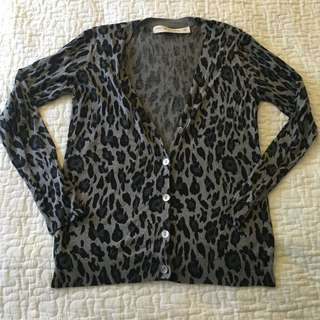Zara Animal Print Cardigan