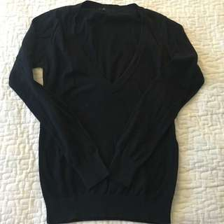 F21 Deep V Sweater