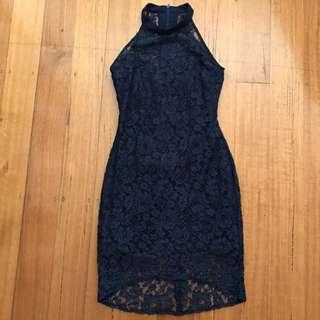 Navy Lace Pilgrim Dress