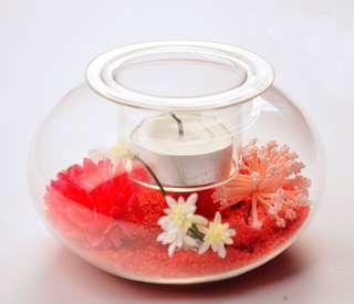 PRICE REDUCED!!! Last Piece - Flat Round Tea-Light Display Holder ($6)