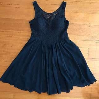Dotti Navy Lace Skater Dress