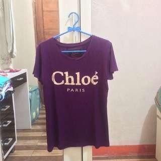 Chloe Paris Purple Tumblr T-Shirt Tee
