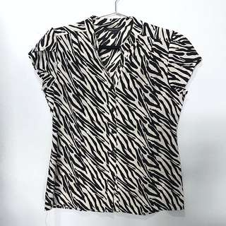 Blus The Executive Motif Zebra