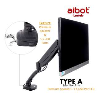 ✔FREE DELIVERY: Full Motion LCD arm Desk Monitor Mount for 10''-24'' Computer Monitor Deluxe w/ Gas Spring arm,With Clamp or Grommet Desktop Support (FREE DELIVERY)