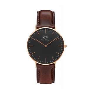 Authentic/Legit/Original Daniel Wellington Classic Black Bristol 36mm Rosegold watch