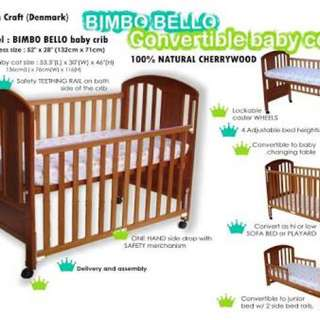 Bimbo Bello Convertible Crib
