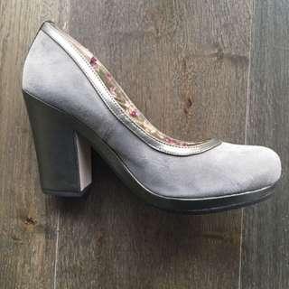 Grey Suede Heels By Seychelles