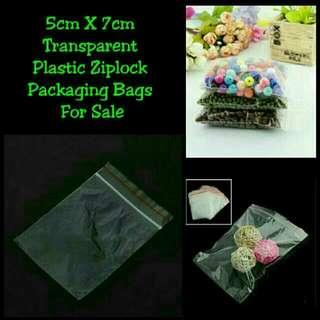 CONVENIENCE/CRAFT/HEALTH - 5cm X 7cm Transparent Plastic Ziplock Packaging Bags For Sale