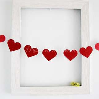 Glitter Red Hearts Garlands