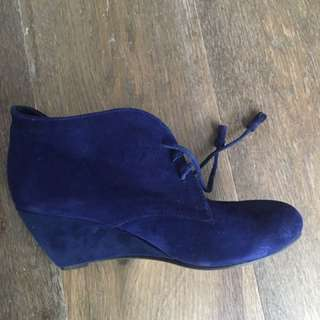 Midas Blue Suede Ankle Boots