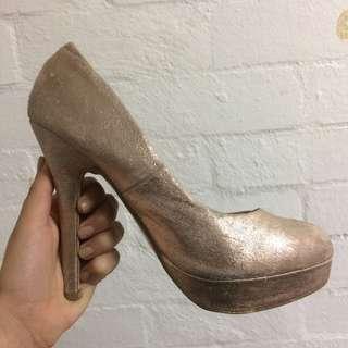 Rose Gold Platform Heels