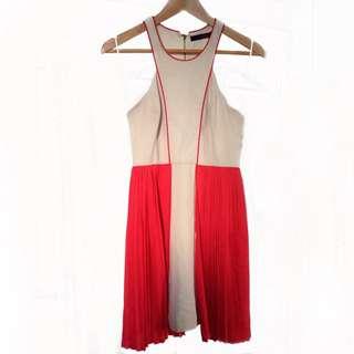 Kuku Beige & Pink/Orange Dress