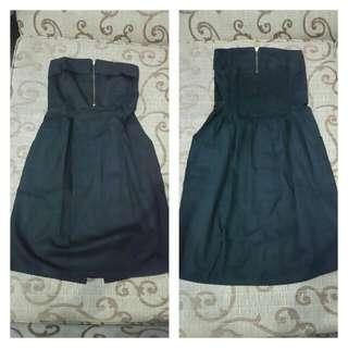 mini bLack dress / dress pendek