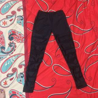 Black Mummy Jegging Trousers