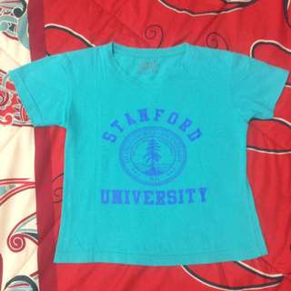 Tosca Stanford University Tumblr T-Shirt Crop Tee