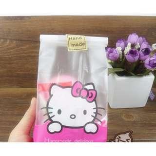 G25 - Cookie Wrapper/Goodie Bag -  Hello Kitty 8cm x 22.5cm
