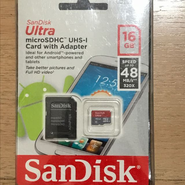 SanDisk Ultra microSD 16GB 記憶卡 (附轉接卡)