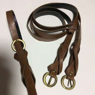 Leather Brown Vintage Belt