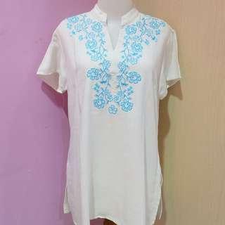 P.S Blue & White Muslim Blouse