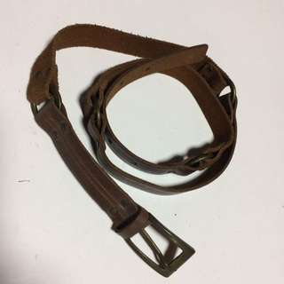 Mango Brown Leather Vintage Belt
