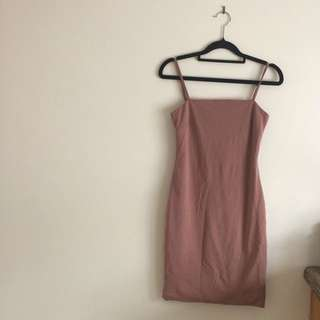 Bodycon Dress With Back Cutout