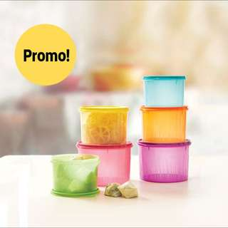 tupperware 6piece texture canister set