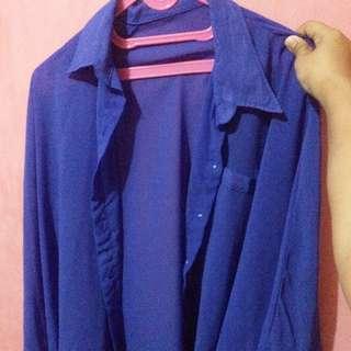 Blue Batwing Blouse