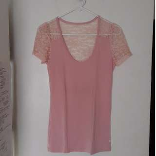 Kamiseta T-shirt with Lace Detail