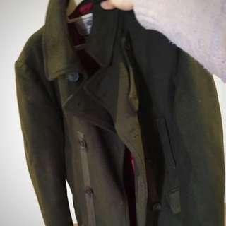 Long Green Wool Coat