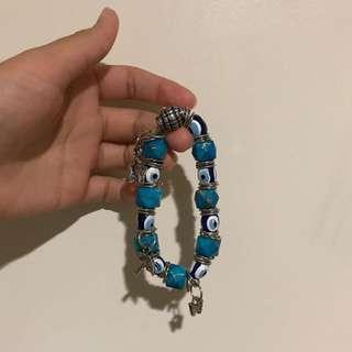 Blue Hand-made Bangle