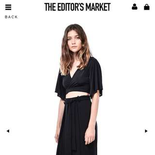 THE EDITOR'S MARKET DEENA HIGH SHEEN CROP TOP