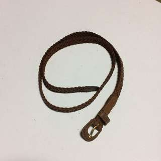Leather Braided Vintage Belt
