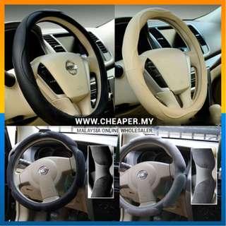 Premium High-Grade Microfibre Leather Car Steering Wheel Cover