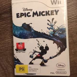 EPIC MICKEY Disney Wii Game