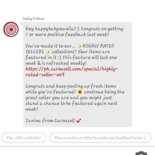 Thankyou Carousell 💕