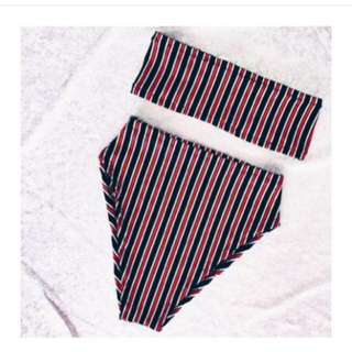 Striped Vintage Inspired Bikini Set