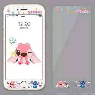 [i7 plus有現貨] 史迪奇 stitch iphone 鋼化玻璃保護貼/3D浮雕軟殼玻璃貼/手機保護貼/前保護貼