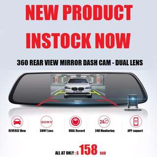 2017 Original 360 Rear View Mirror Car Dashcam WiFi 1080P