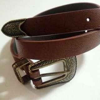Western Style Brown Belt