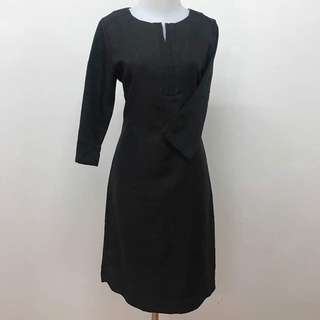 VALINO Black Office Dress