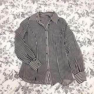 GUESS Sheer Stripe Shirt