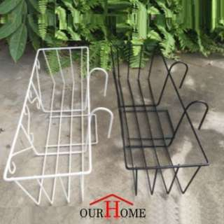 FR005 Flower Pot Holder Balcony Corridor Parapet Plant Rack
