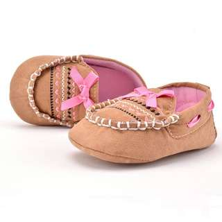 Simple Ribbon Baby Boat Shoes