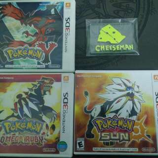 Pokemon Y SUN Omega Ruby 3DS