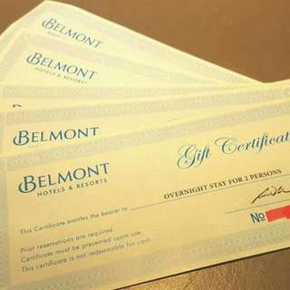 Overnight Stay For 2 At BELMONT HOTEL