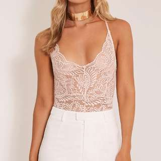 Lace Cross Back Bodysuit