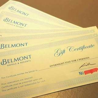 Belmont Hotel GC Overnight Stay For 2