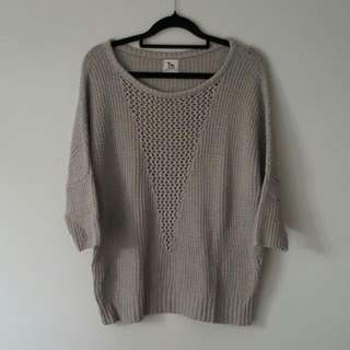 LA't Lagence Grey Knit Top