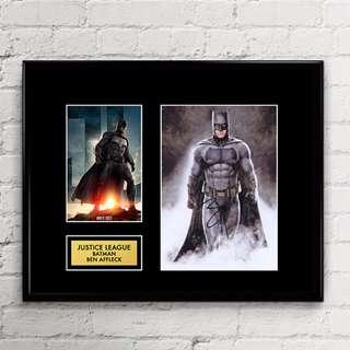 Justice League - Batman - Ben Affleck - Autograph Artwork