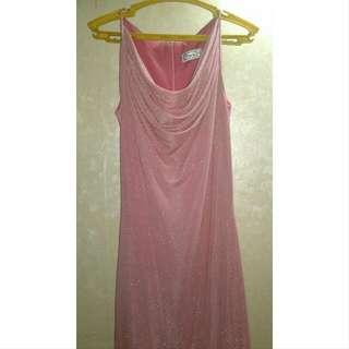 Vintage old rose gown
